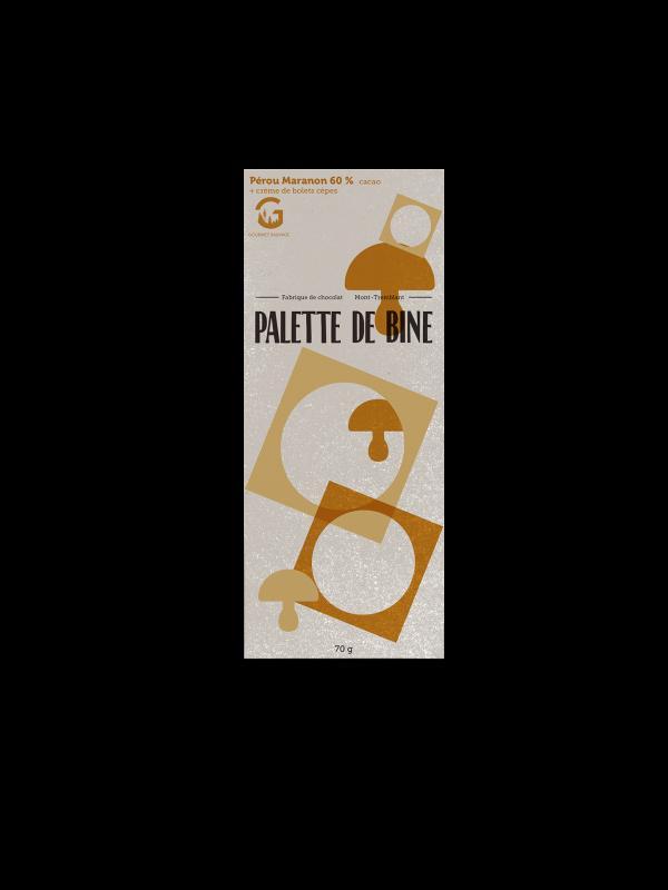 Chocolat aux bolets    Palette de bine X Gourmet Sauvage