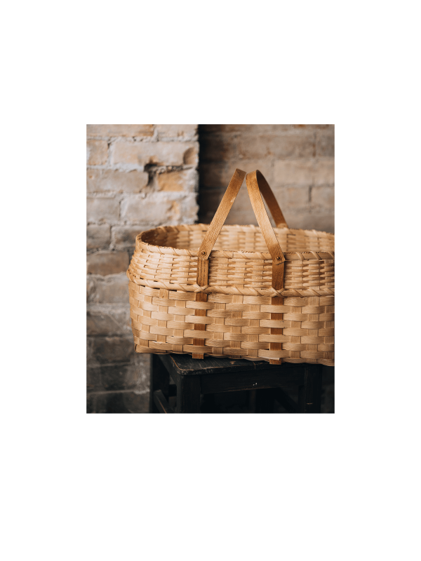 Panier de cueillette fait main au Québec – pique-nique