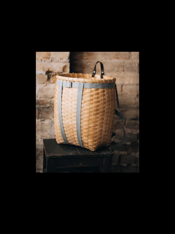 Panier de cueillette fait main au Québec – sac à dos